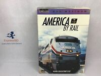 (JZ) DVD Maximum America By Rail 4-DVD Collector's Set  TRAINS! Free US Shipping