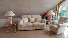 Italienisches Luxusgarnitur der Marke Turri. 2-Sitzer Sofa + Sessel. Seltenheit!