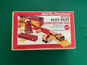 Vintage 1970s Mattel Preschool Putt Putt Construction Yard Play Set with Box