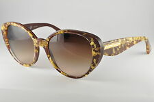 Dolce & Gabbana Sunglasses DG4198 274613 Leaf Gold On Brown, Size 54-18-135