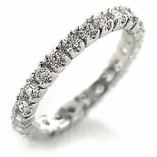 White Gold Eternity Costume Rings