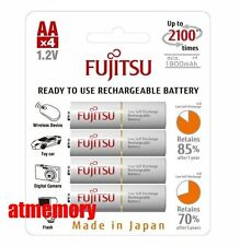 Fujitsu 2000mAh AA Precharge NiMH Rechargeable Battery 4pcs Sanyo Made in JAPAN