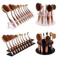 Pro 10PCS Makeup Brushes Set Foundation Oval Toothbrush Shaped Power Brush Tool