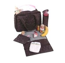 NEW & TAG Lässig brand Glam Global Nappy Bag - Choc - RRP $130 FREE POST