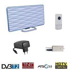 DVB-T2 Aktive terrestrische Antenne TNT HD Zimmerantenne Innen 28 dB + Doorbell