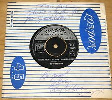 """ROY ORBISON SIGNED LONDON 7"""" COMPANY SLEEVE WITH PERSONAL MESSAGE UACC DEALER"""