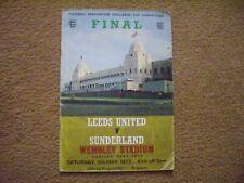 LEEDS UNITED V SUNDERLAND PROGRAMME, FA CUP FINAL 1972/73