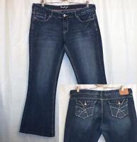 "Amethyst Boot Cut Jeans Women's Juniors 17 (X 29.5"") Blue Flap Pockets"