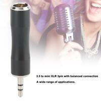 2x adaptateur stéréo mini jack 3.5mm vers XLR mâle 3 broches pour micro