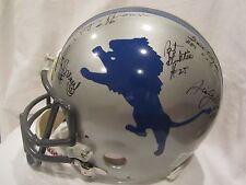 Lions HOFs & Stars Autographed Lions Full Size Helmet 8 Signatures – Full JSA