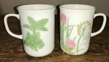 "HERBS & SPICES BY SHAFFORD PAIR OF SMALL 3-3/4""X 2-3/4"" MUGS EUC"