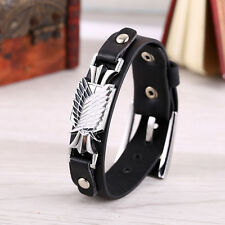 Hot Attack On Titan Scouting Legion Bracelet Pu Leather Wristband Cosplay Gift