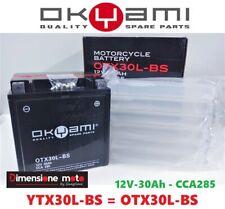 Batteria OKYAMI YTX30L-BS 12V-30Ah - CCA285 per BMW K100 1000 dal ---- >