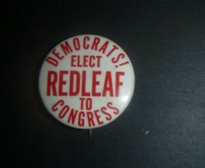 Vintage 1958 Gilbert Redleaf NY NEW YORK CONGRESS political campaign button pin