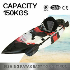 Fishing Kayak Sit-On Kayak Canoe Holders Padded Seat Paddle Sale Ocean Red