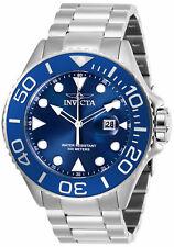 Invicta Men's 28766 Pro Diver Quartz 3 Hand Blue Dial Stainless Steel Watch