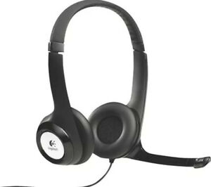 LogitechH390 USB Computer Over-ear Headset Padded Comfortable Conference office