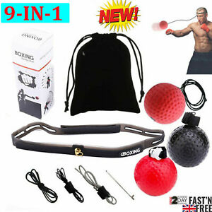Boxing Fight Ball With Head Band 3 Balls Sports Gym Training Punch Reflex UK