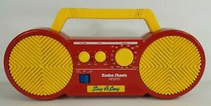 Vintage Radio Shack red yellow kids Sing Along 60-2338 AM/FM Radio Tested Works