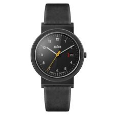 Braun Mens Gents Classic Watch / Black Leather Strap AW 10 EVO Swiss Movement