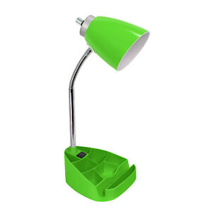 Limelights Gooseneck Organizer Desk Lamp with iPad Tablet Stand Book Holder a...