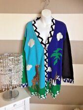 NWT Storybook Knit School Sweater Safari Giraffe Zebra Zoo Animals Sweater Sz 1X