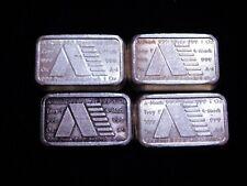 Lot of 4 - USVI 1981 A-Mark 1 oz .999 Silver Stacker Bars