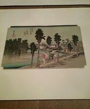 Hiroshige,4  Japanese woodblock prints 1940s,