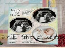 BABY FIRST SCAN@SECOND SCAN AND NEWBORN BABY PICTURE FRAME KEEPSAKE BIRTH GIFT