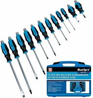 BlueSpot Screwdriver Set Hex Impact Bolster Handle Magnetic Tip Screwdrivers