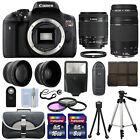 Canon EOS T6i SLR Camera + 4 Lens Kit 18-55 STM + 75-300mm + 24GB Top Value Kit