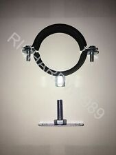 Rubber Lined Munsen Ring & optional MALE Backplate - Pipe Hanger, Clamp, Bracket
