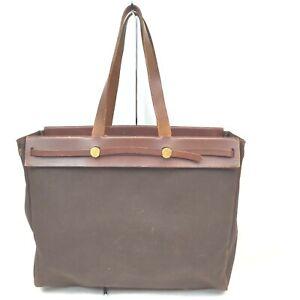Hermes Tote Bag  Browns Canvas 1515743
