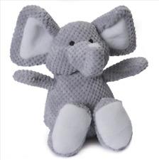 GoDog Plush CHECKERED ELEPHANT Squeaker Durable Dog Toy SMALL