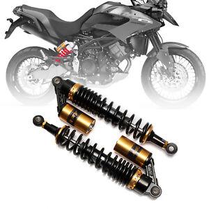 """2Pcs 380mm 15"""" Motorcycle Rear Air Shock Absorber Suspension For Honda Kawasaki"""