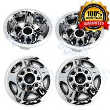 """08-10 Chevy Silverado DUALLY Chrome 17"""" Wheel Simulator Liner+Center Caps Cover"""