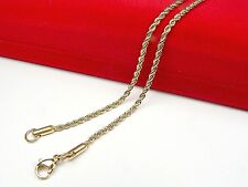 18ct real gold GF rope necklace 2mm wide, weight 5.1g