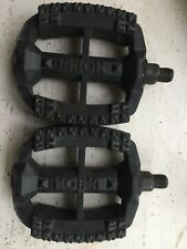 Union K10490 Black BMX Plastic Bike Pedals - Made in the USA Old School 1/2