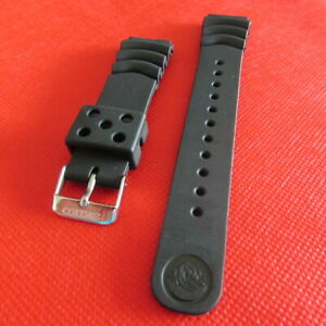 REPLACEMENT SEIKO RUBBER WATCH BAND BLACK 22MM FIT SEIKO WATCH CASES WITH 22MM