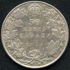 1911 Canada Silver 50 Cent Piece (11.66 Grams .925 Silver)