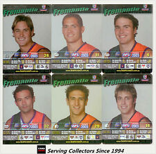 2003 AFL Teamcoach Trading Card Silver Team set Fremantle (9)