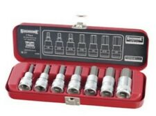 """Sidchrome SCMT13456 7pc 3/8"""" Dr AF in-hex socket set"""