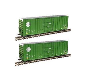 WALTHERS 932-27115 50' HI-CUBE PAPER BOXCAR 2-PACK INTERNATIONAL BRIDGE TERMINAL