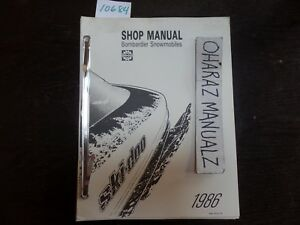1986 BOMBARDIER Snowmobile Service Shop Manual OEM