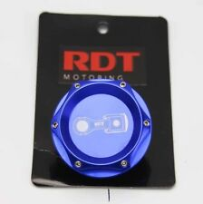 RDT ENGINE OIL CAP COVER BLUE BILLET ALUMINUM UNIVERSAL FITS ALL HONDA ACURA
