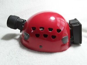 Petzl Climbing Helmet with attached Petzl Head lamp