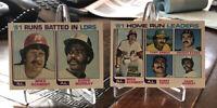 1982 TOPPS #162 + #163 '81 HOME RUN LEADERS & RBI Leaders ~ Mike Schmidt! ~ Mint