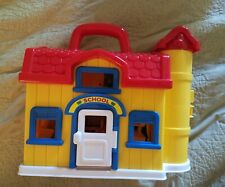 Carry Along School House Blue Box with people, desk, other toys