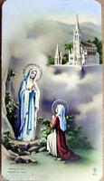 1900s Prayer Card Madonna Virgin Santa Maria Dell' Abbot Perreyve-Fb 303
