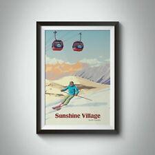 More details for sunshine village banff canada ski resort travel poster - bucket list prints